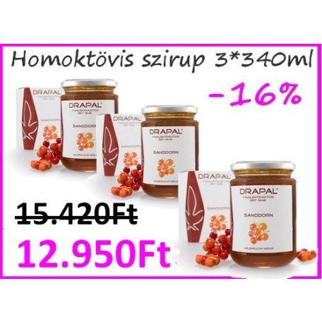 3db Drapal - Homoktövis Szirup, 450g/340ml