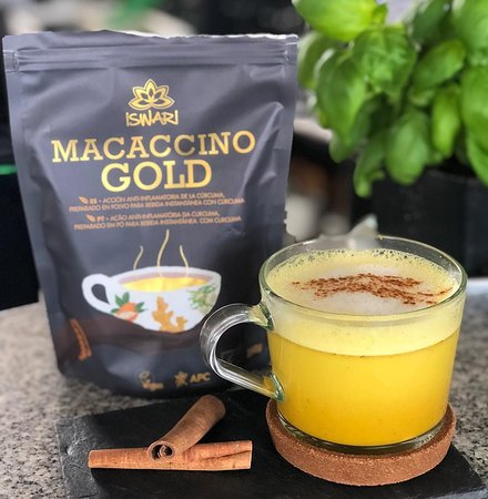 Macaccino Gold elkészítve