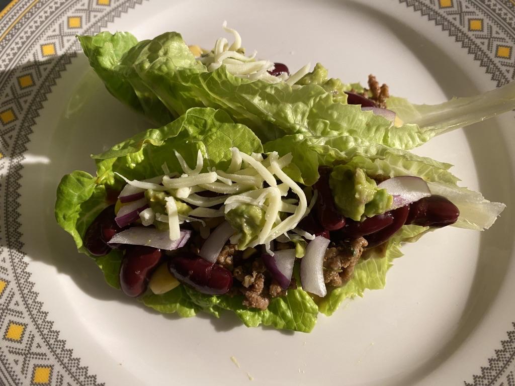 Taco salátalevélben